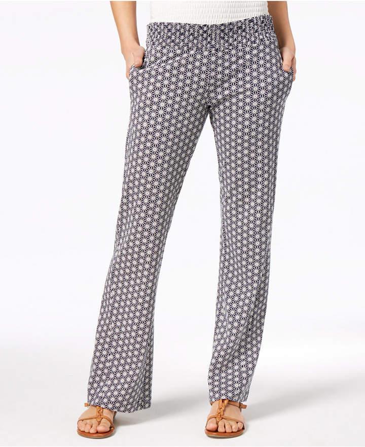 Roxy Juniors' Printed Flare-Leg Soft Pants