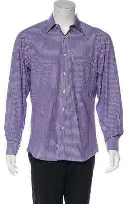 Valentino Striped Button-Up Shirt