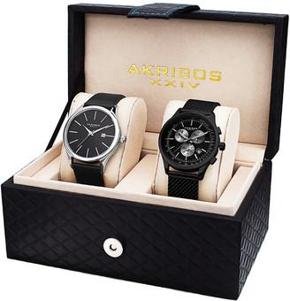 August Steiner Akribos Xxiv Men's Set Of Two Watches
