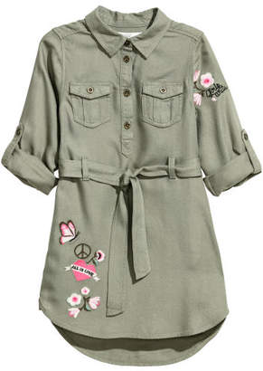 H&M Shirt Dress with Belt - Green