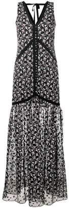 Erdem sleeveless floral embroidered dress