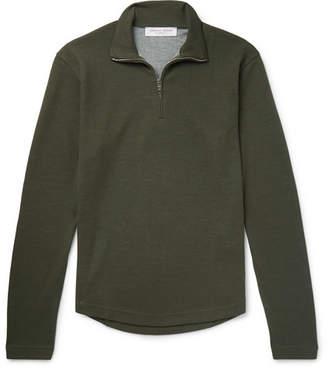 Orlebar Brown Neilson Slim-Fit Wool-Blend Half-Zip Sweater