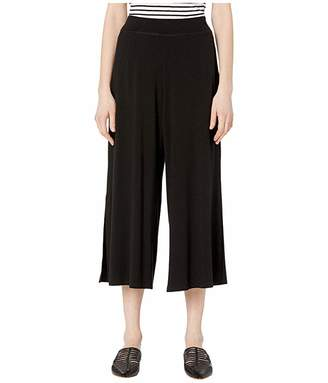 Eileen Fisher Fine Tencel Jersey Stretch Wide Leg Pants