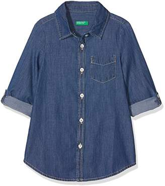 Benetton Girl's Shirt Blouse,(Manufacturer Size: 1y)
