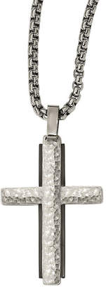 Silver Cross FINE JEWELRY Edward Mirell Mens Sterling Pendant Necklace