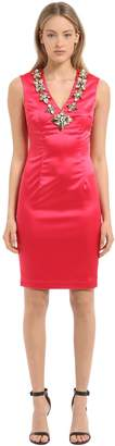 Stefano De Lellis Embellished Satin Dress