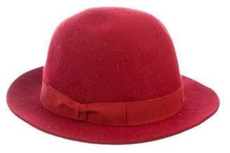 Hermes Bow-Trimmed Felt Hat
