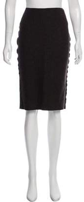 Hache Wool-Blend Knee-Length Skirt w/ Tags