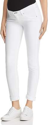 Rag & Bone Dre Skinny Maternity Jeans in White