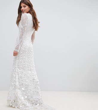 A Star Is Born Bridal Embellished Maxi Dress with Fishtail