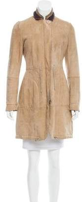 Brunello Cucinelli Knee-Length Shearling Coat