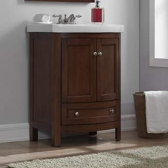 "Charlton Home Brook Hollow 24.6"" Single Bathroom Vanity Set Base"