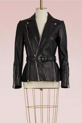 Alexander McQueen Belted Leather Jacket