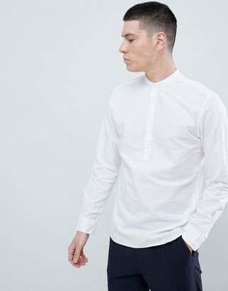Jack and Jones Linen Mix Half Placket Shirt