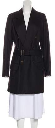 Ann Demeulemeester Wool Double-Breasted Coat