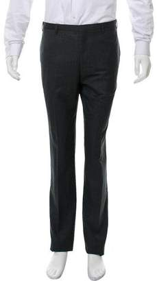 Calvin Klein Collection Wool Flat Front Pants