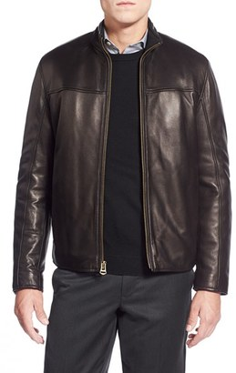 Men's Cole Haan Lambskin Leather Moto Jacket $595 thestylecure.com