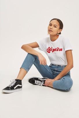 Topshop Womens Mid Blue Orson Slim Leg Jeans - Mid Stone