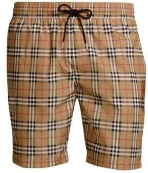 Burberry Guildes Checked Swim Shorts