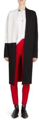 Haider Ackermann Long Colorblock Wool& Cashmere Cardigan