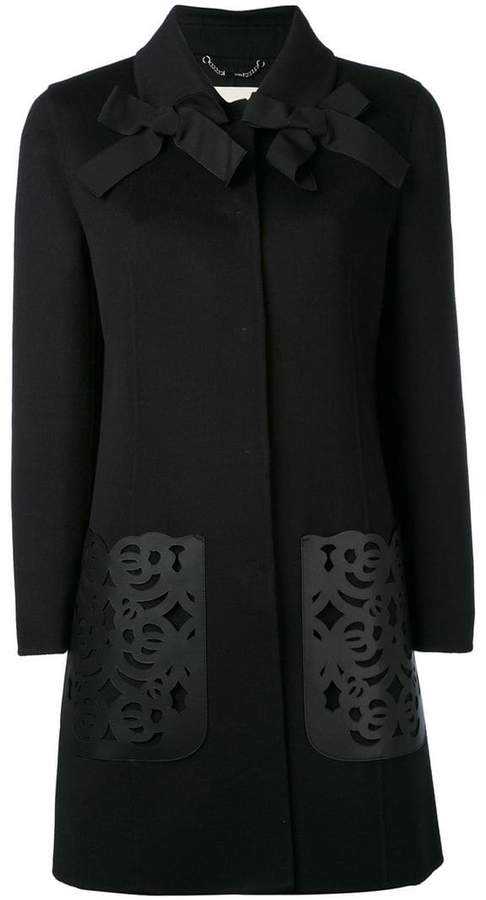 Fendi laser-cut coat