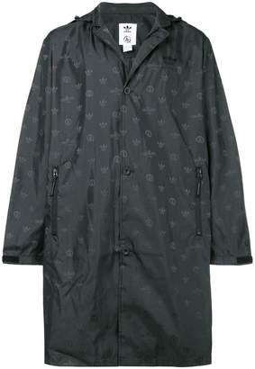adidas long brand raincoat