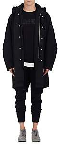 Helmut Lang RE-EDITION Men's Fur-Lined Cotton Canvas Parka-Black