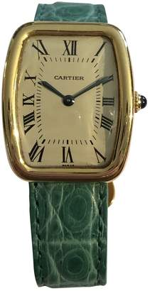 Cartier Vintage Green Yellow gold Watches