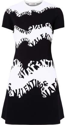 Valentino Jacquard Dress - Black