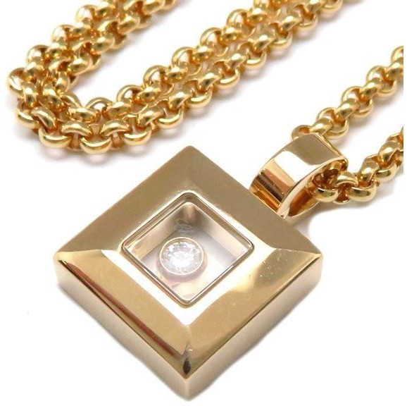 ChopardChopard 750 Yellow Gold Happy Diamond Square Necklace