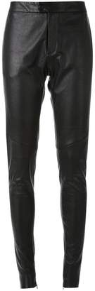 Bassike tapered leather trousers