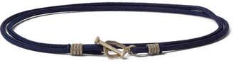 Luis Morais Cord and 14-Karat Gold Bracelet - Navy