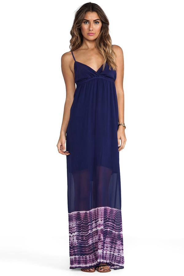 Gypsy 05 Foundation Spaghetti Alligator Maxi Dress