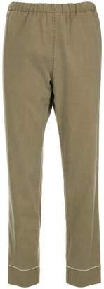Bassike elasticated waistband tapered trousers