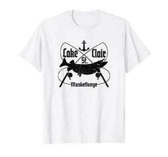 Lake St. Clair Musky Fishermans Shirt for Men