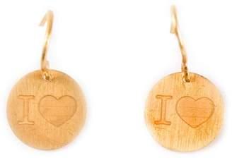 Marie Helene De Taillac 22kt gold 'I Love' earrings