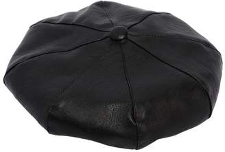 Ermanno Scervino Faux Leather Beret