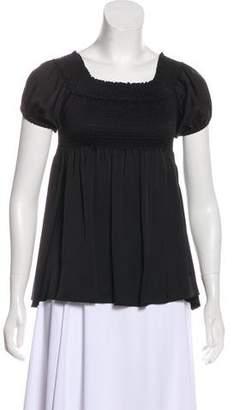 Chanel Smocked Silk Top