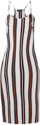 Roberto Collina striped midi slip dress