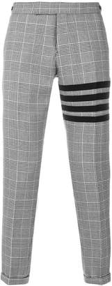 Thom Browne 4-Bar Prince Of Wales Heavy Wool Trouser