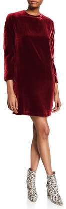 Aspesi Long-Sleeve Velvet Short Dress