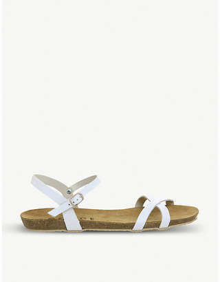 Office Safari criss-cross leather sandals