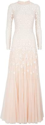 Needle & Thread Bella Sequin Long Sleeve Gown