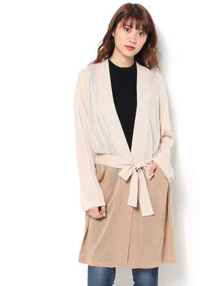 Moussy (マウジー) - マウジー BELTED GOWN CARDIGAN