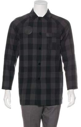 Alexander Wang Leather-Accented Car Coat black Leather-Accented Car Coat