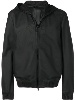 Fendi leather hooded jacket