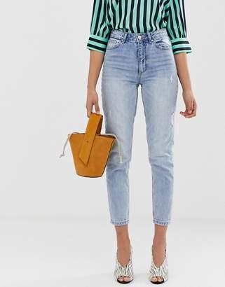 Vero Moda high waist ankle grazer mom jean