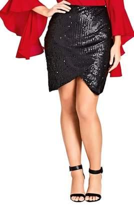 City Chic Dazzle Me Skirt