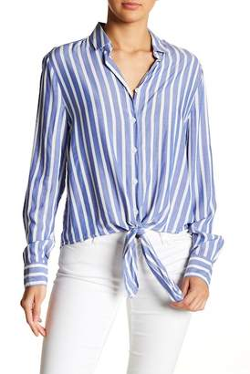 Yumi BeachLunchLounge Button Up Tie Front Blouse
