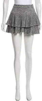 Derek Lam Tiered Mini Skirt Grey Tiered Mini Skirt